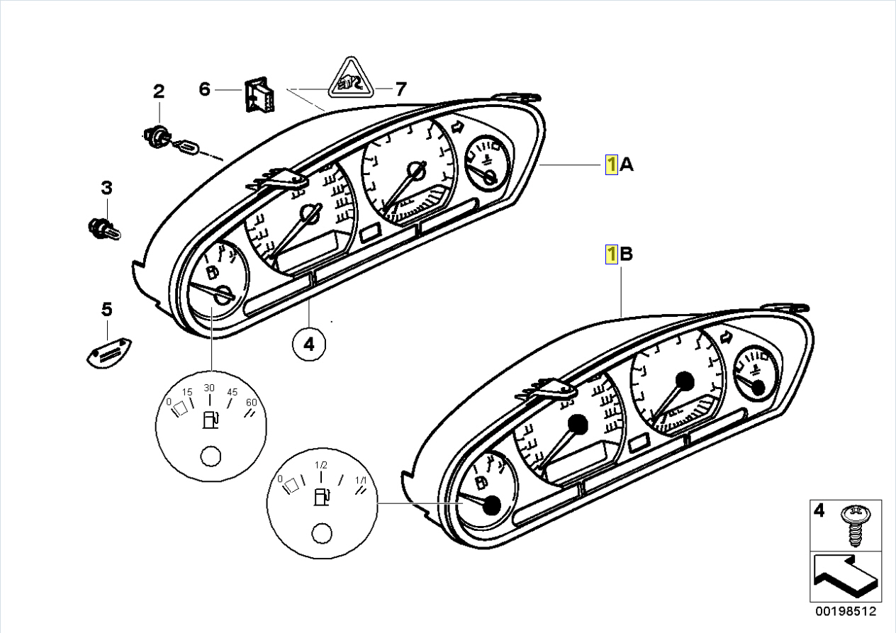 Bmw E36 Cuadro De Instrumentos Tablero De Circuitos Pcb