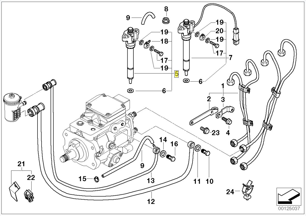 E46 Fuel Injector