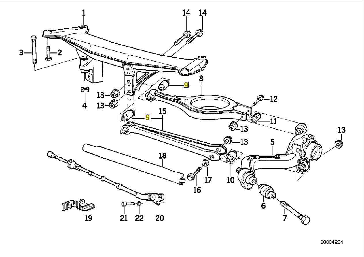 Bmw Z1 E30 Z Axle Rear Control Arm Rubber Bush