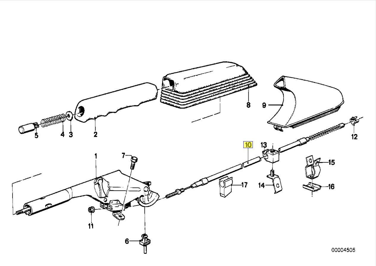 Bmw Series 3 E30 Hand Parking E Brake Cable