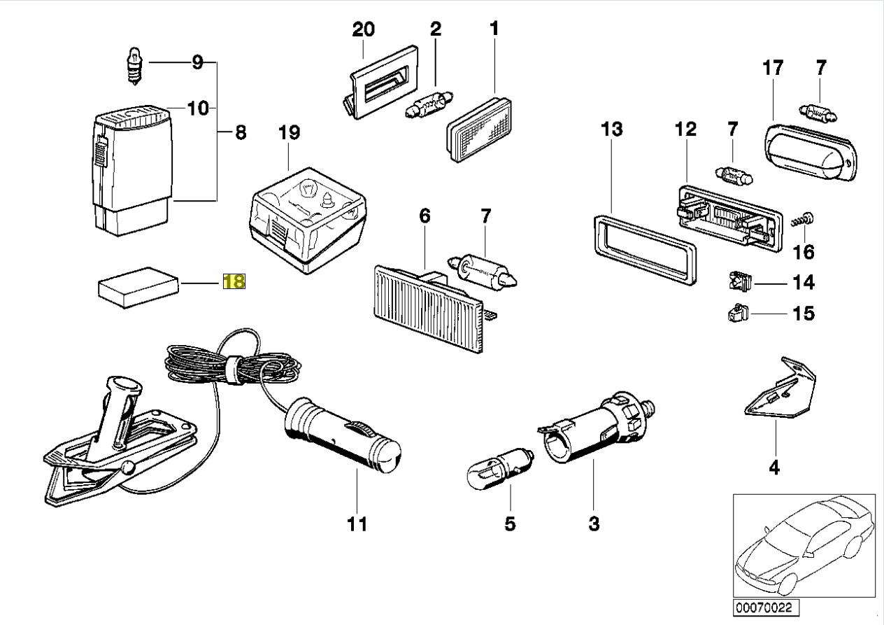 Bmw E30 E28 E34 E24 Glove Box Torch Foam Pad