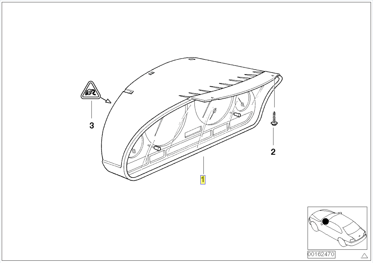 Bmw E46 Instrument Cluster Panel Circuit Board