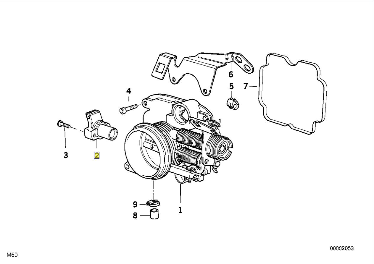 Bmw Throttle Position Sensor Tps O Ring Seal