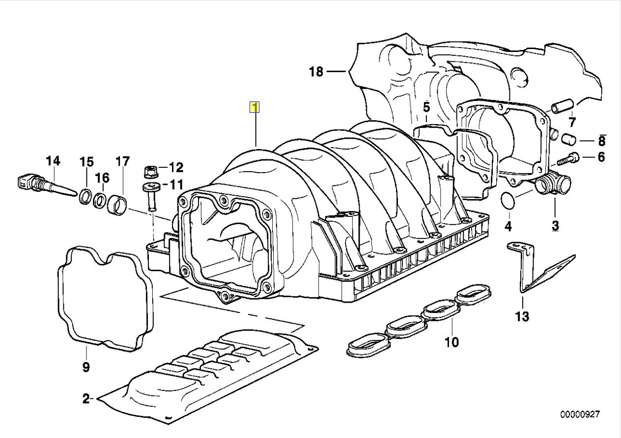 Bmw M60 B40 M62 B44 V8 Engine Intake Manifold