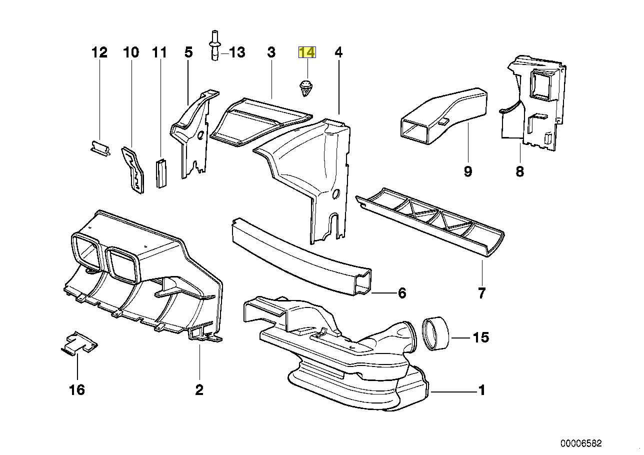 Bmw E31 Engine Compartment Trim Clip Twist Lock