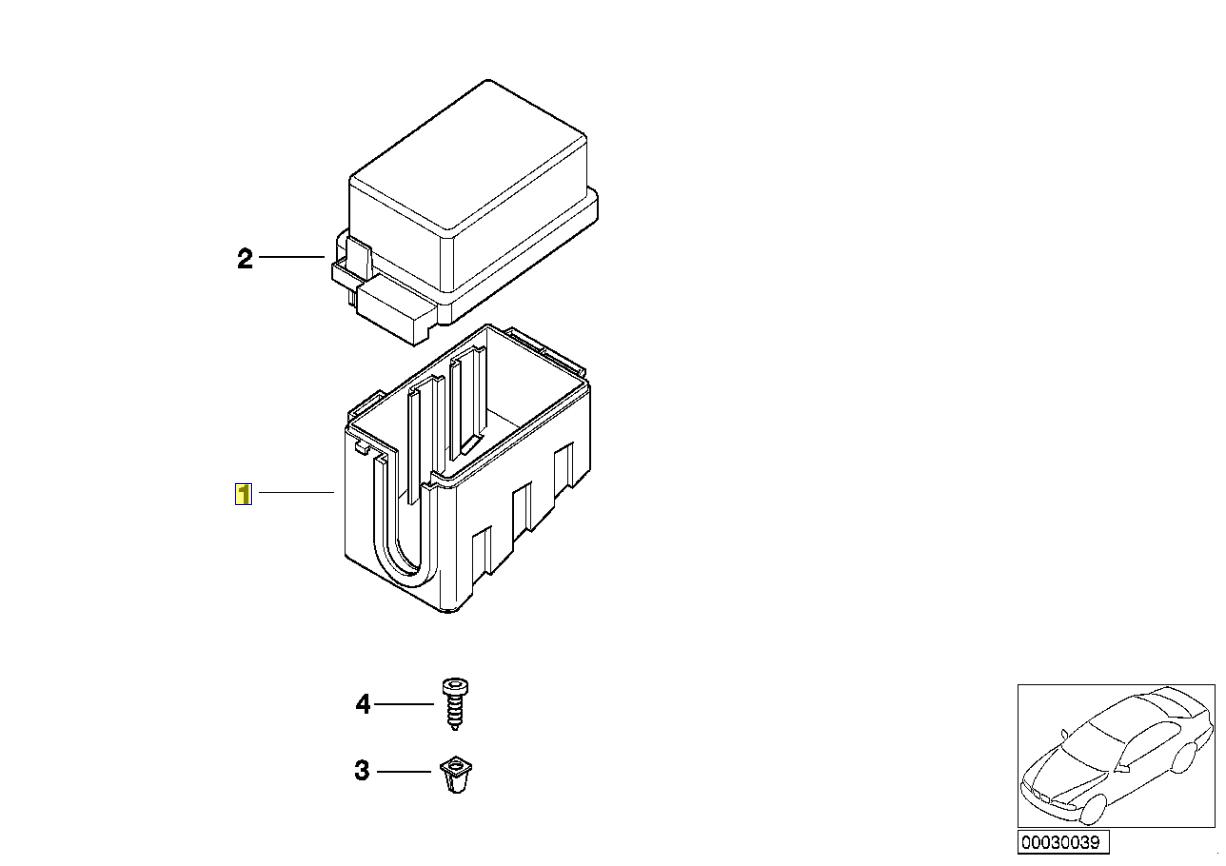 bmw e30 e32 e34 e38 main relay holder box mount