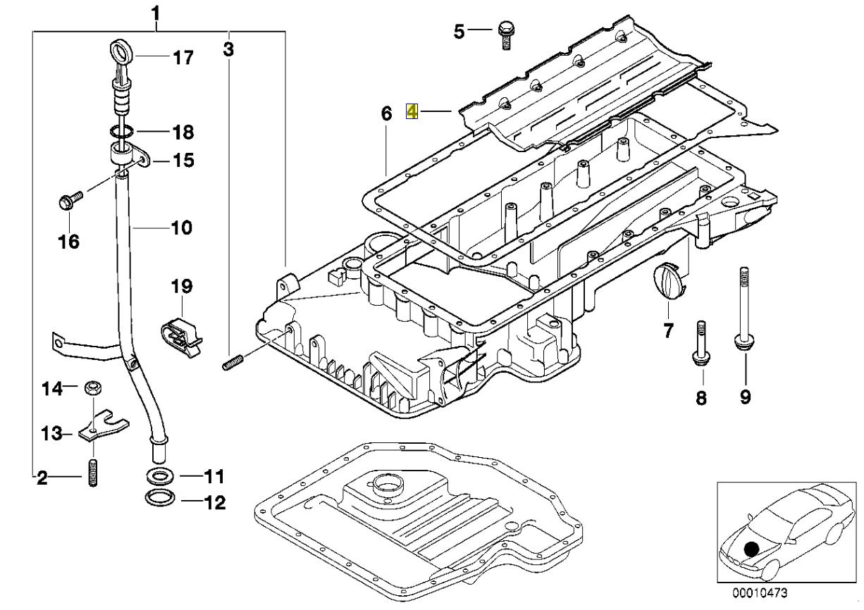 Bmw M60 M62 V8 Engine Oil Sump Baffle Plate