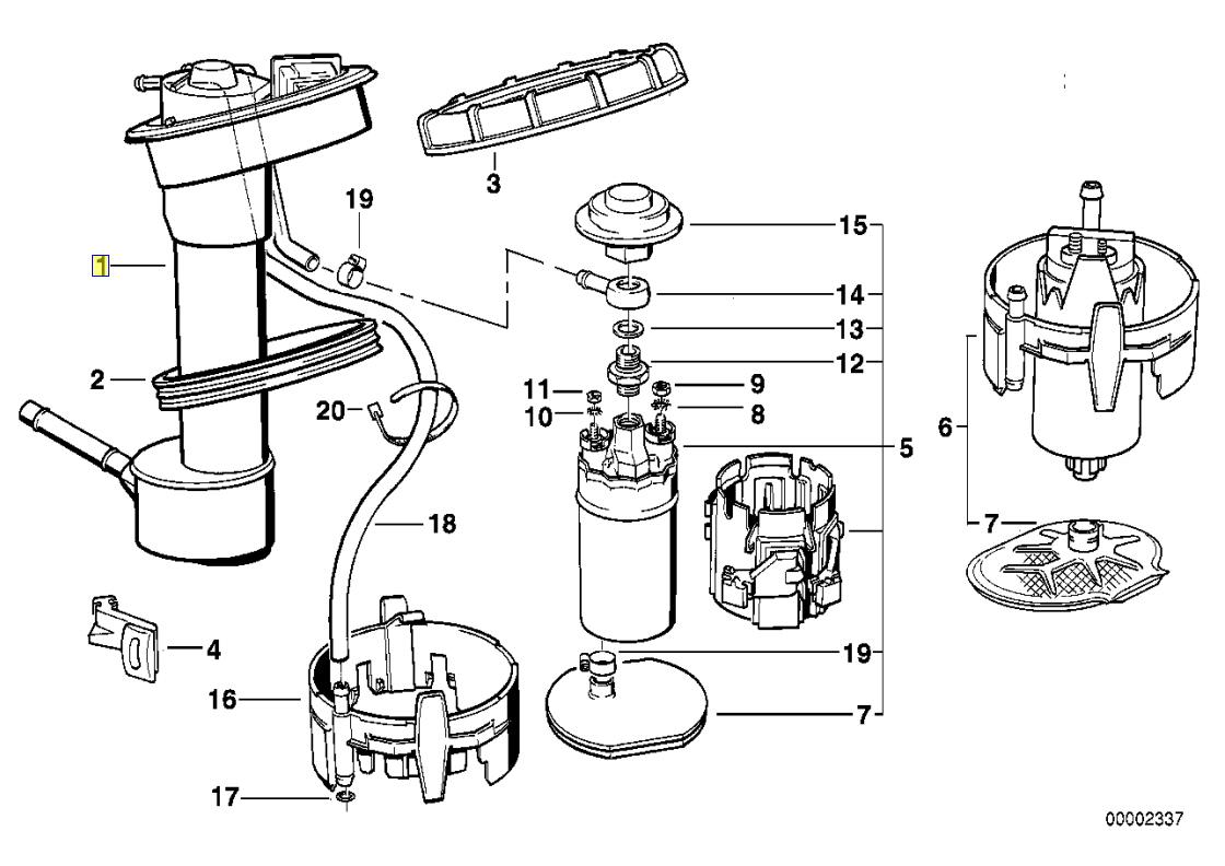 Bmw E34 Fuel Tank Level Sensor Sender Spring