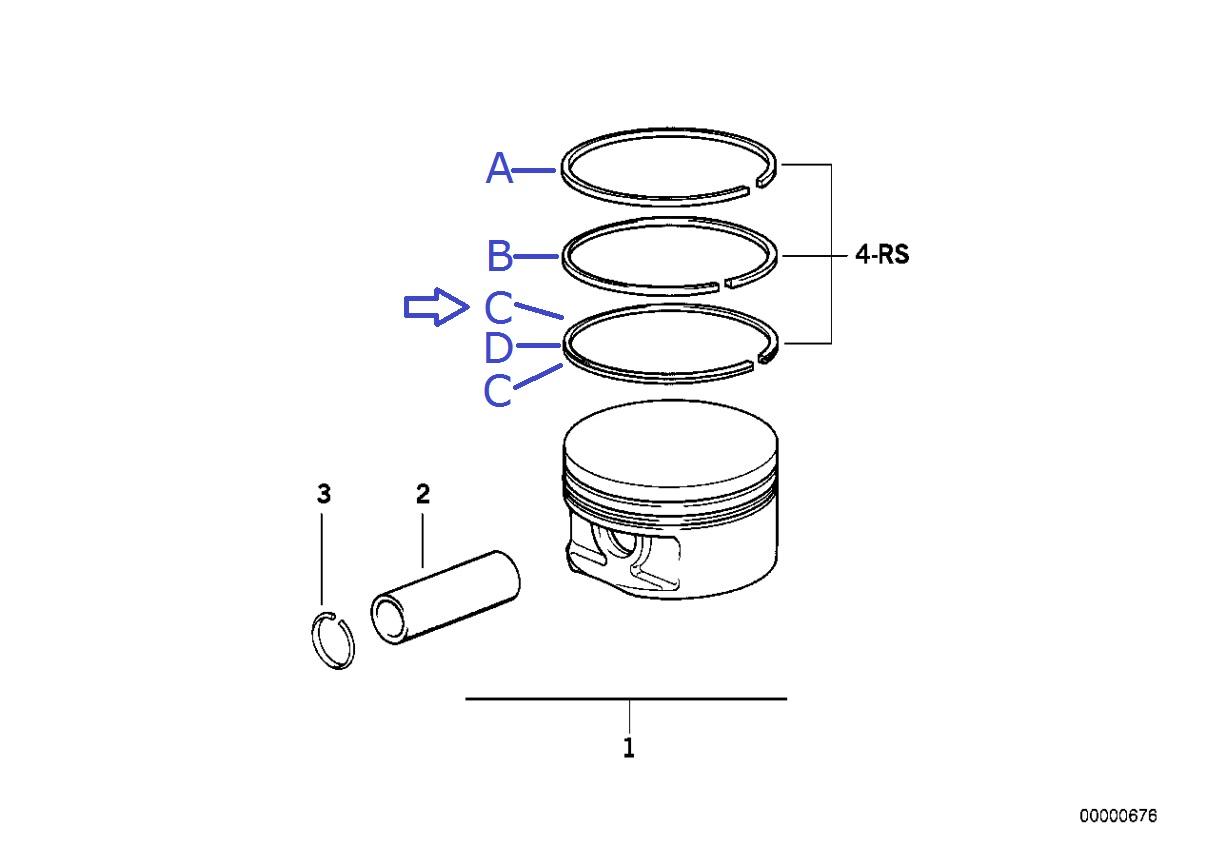 Bmw M62 B44 V8 Engine Oil Control Sc R Ring