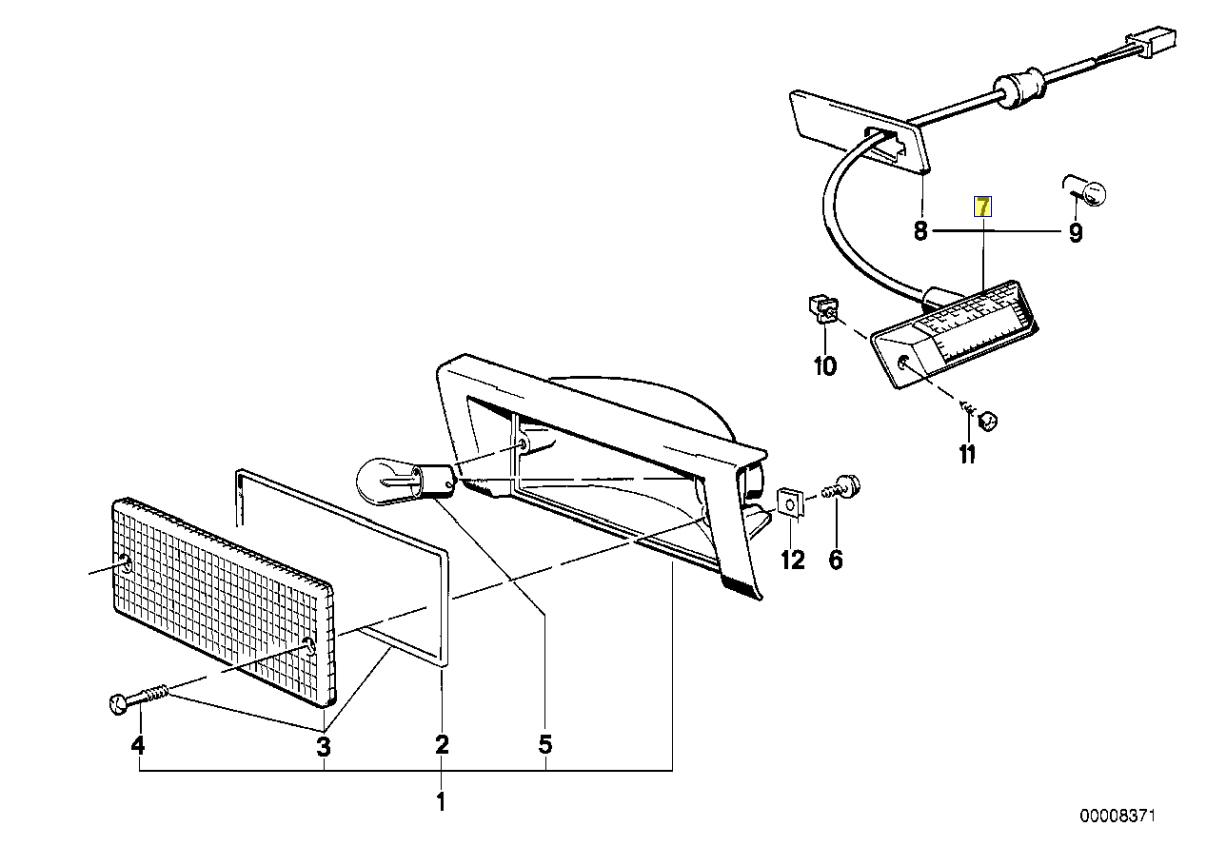Bmw E30 E28 E24 E23 Indicator Bulb Holder Seal