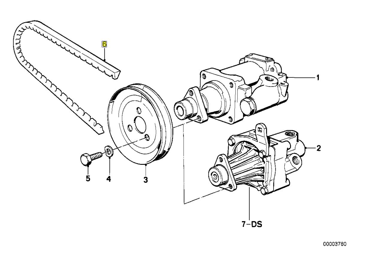 Bmw M30 M88 Engine Fan Drive Belt Avx 10x888 Mm