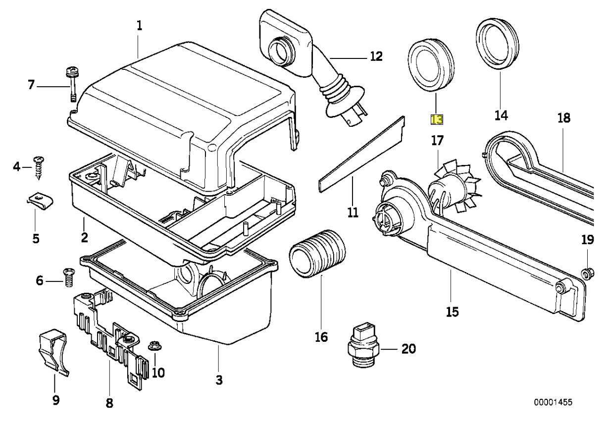 Bmw E31 E32 E34 Ecu Box Air Vent Grommet Seal