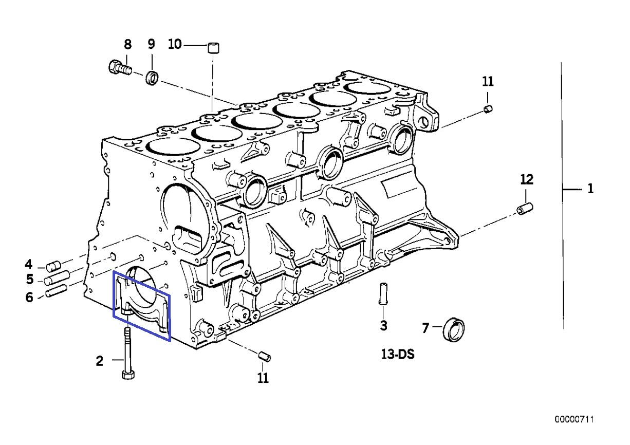 Bmw M50 B25 Engine Crankshaft Main Bearing Cap