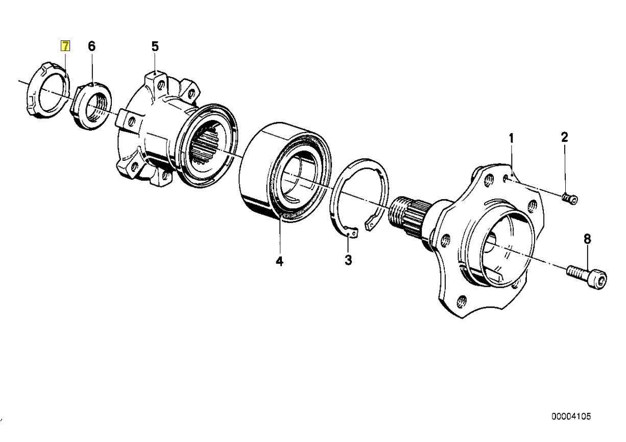 Bmw E28 E34 E24 E23 E32 Hub Nut Lock Tab Washer