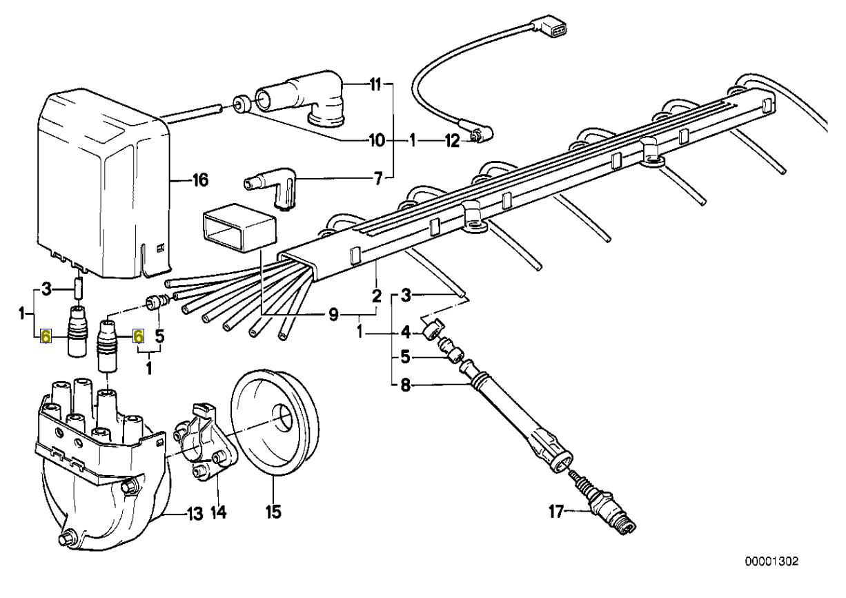 Bmw M20 Motor Ht Zundkabel Entstorer Stopfen
