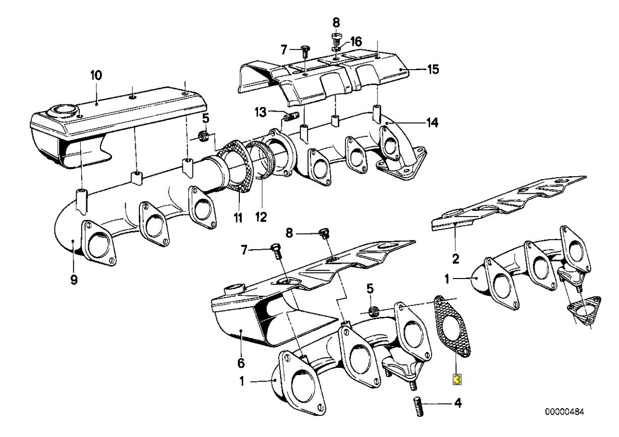 Bmw M10 M20 Exhaust Manifold Header Seal Gasket