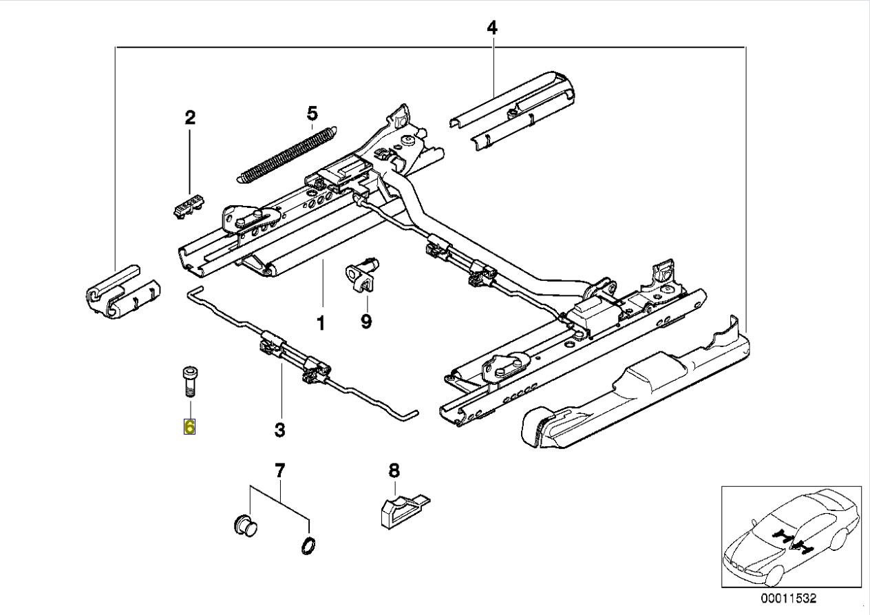 Bmw Torx Bolt Screw M10 X 1 5 X 30 Mm Grade 8 8