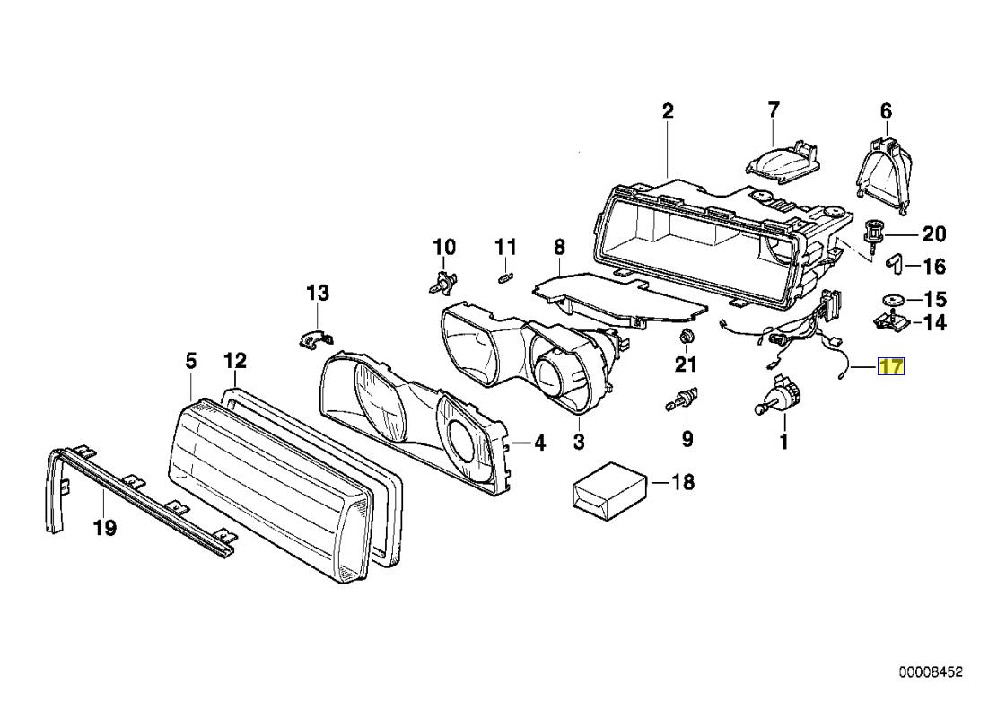 Bmw E38 Bosch Head Light Wiring Harness Loom