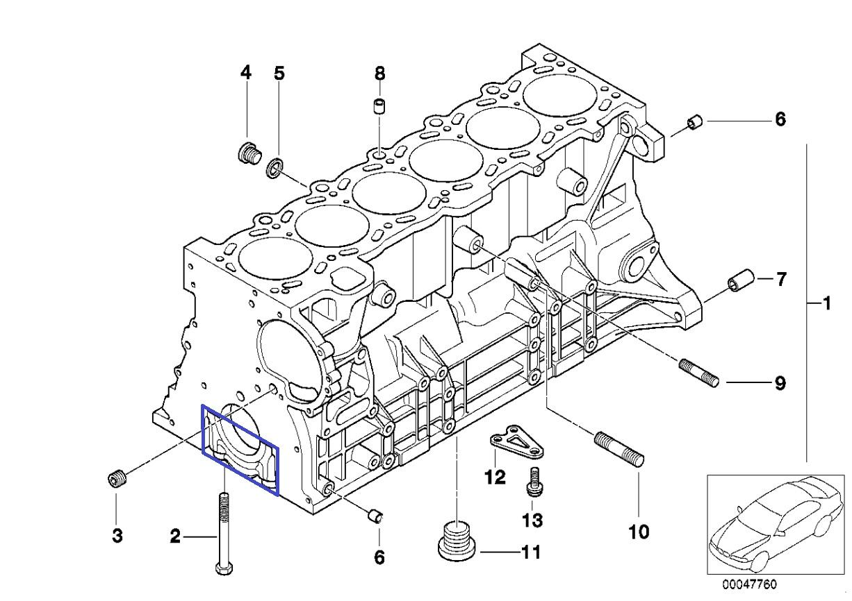 Bmw M52 B25 Engine Crank Shaft Main Bearing Cap