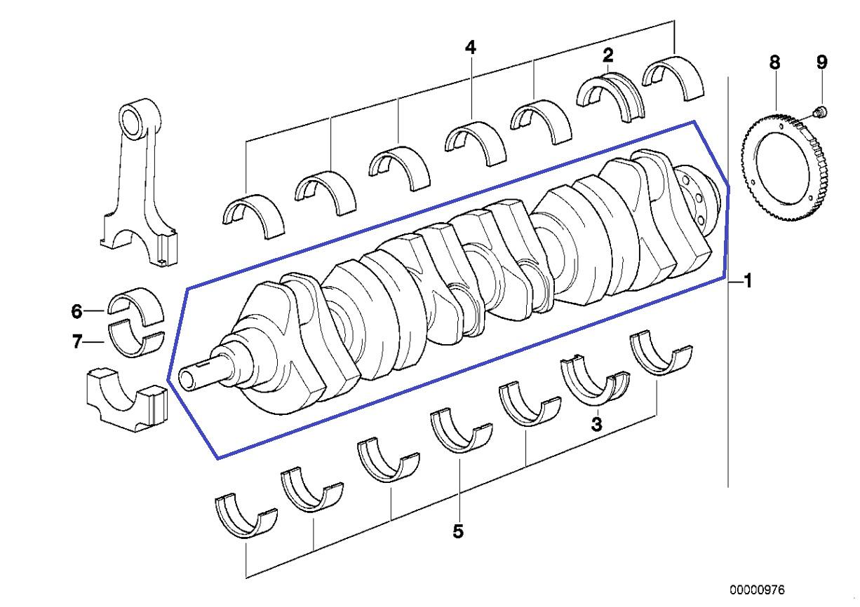 Bmw M50 B25 Motor Kurbelwelle