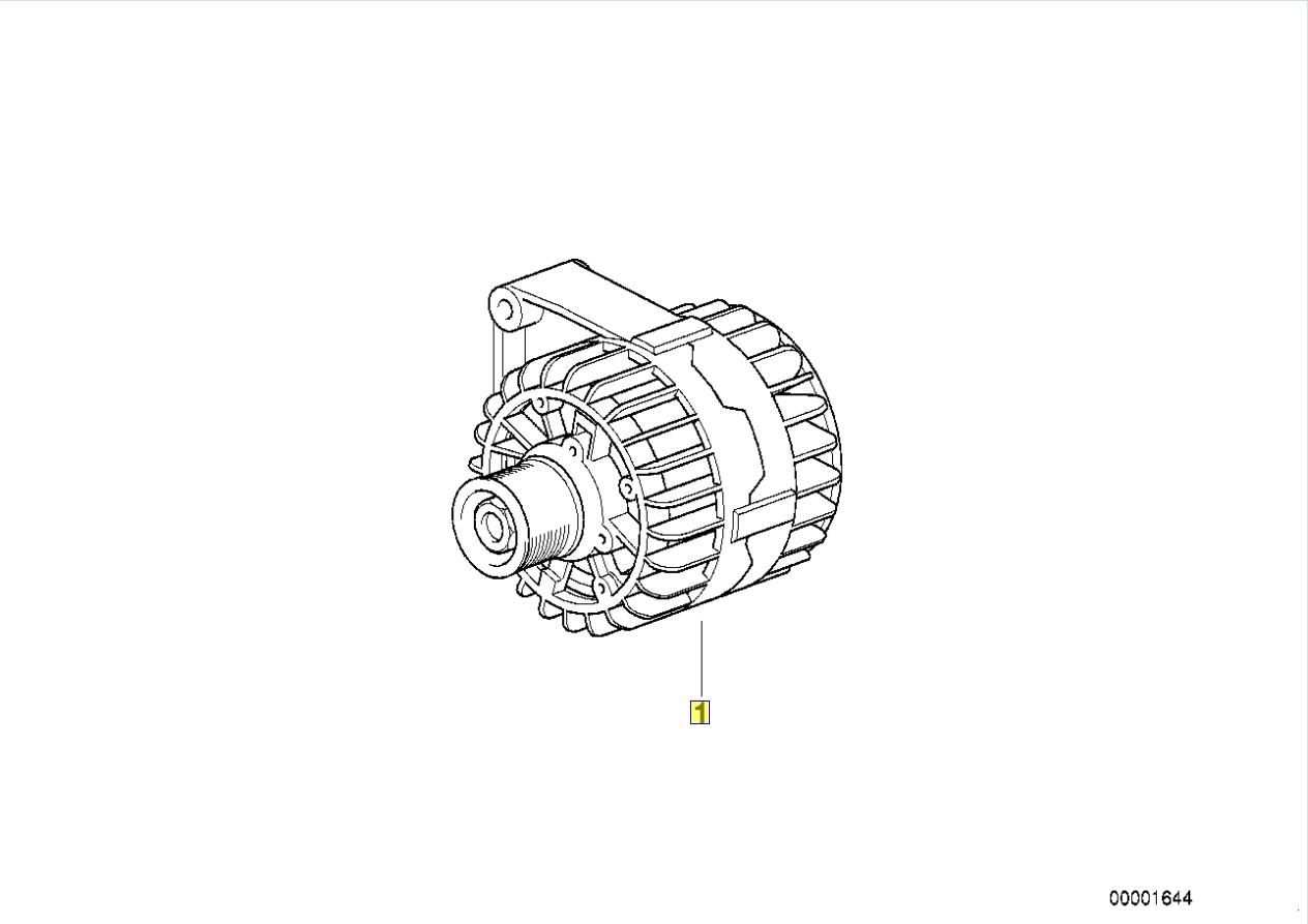 Bmw E46 E39 Z3 M52 Engine Valeo 90 A Alternator
