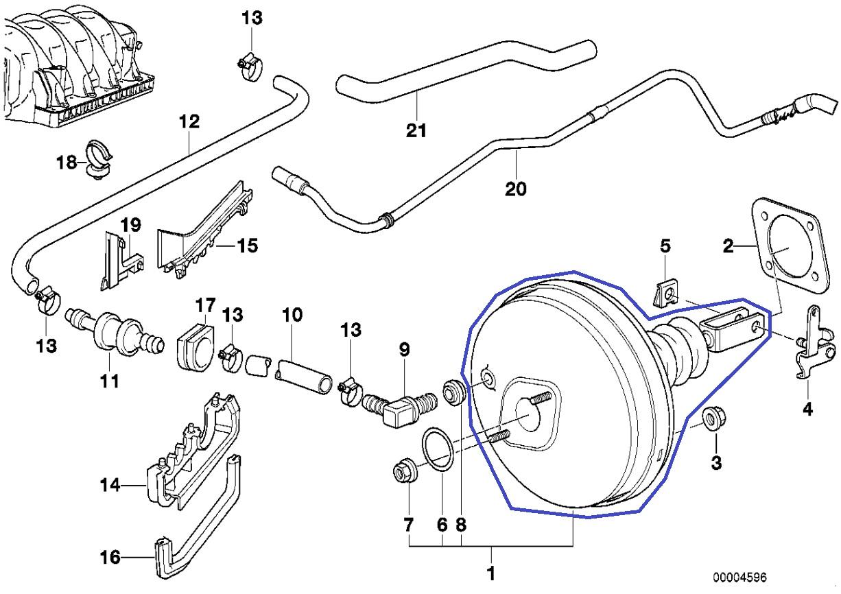 Bmw E38 E39 Lucas Brake Vacuum Booster Servo