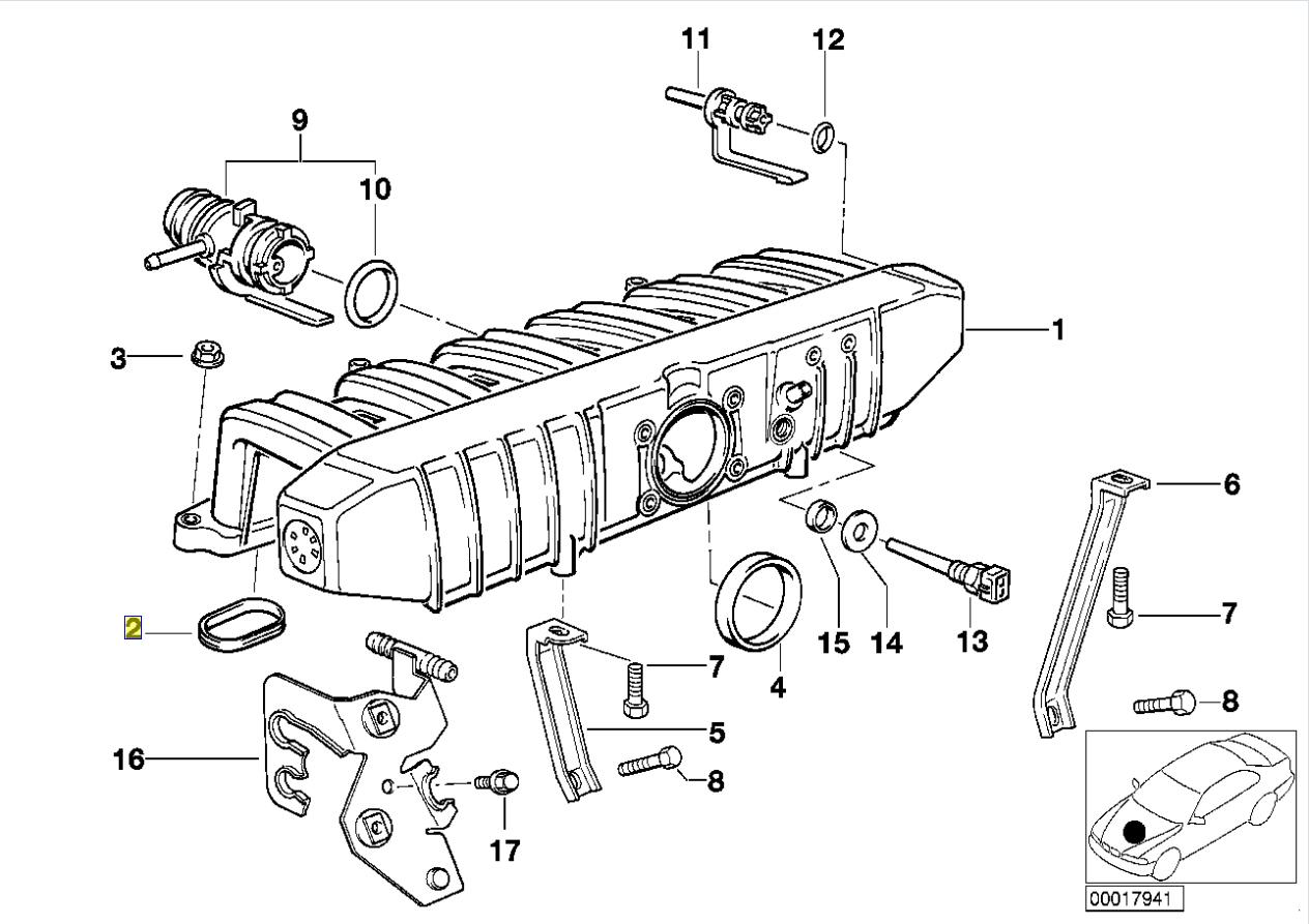 Bmw M50 B20 Engine Intake Manifold Seal Gasket