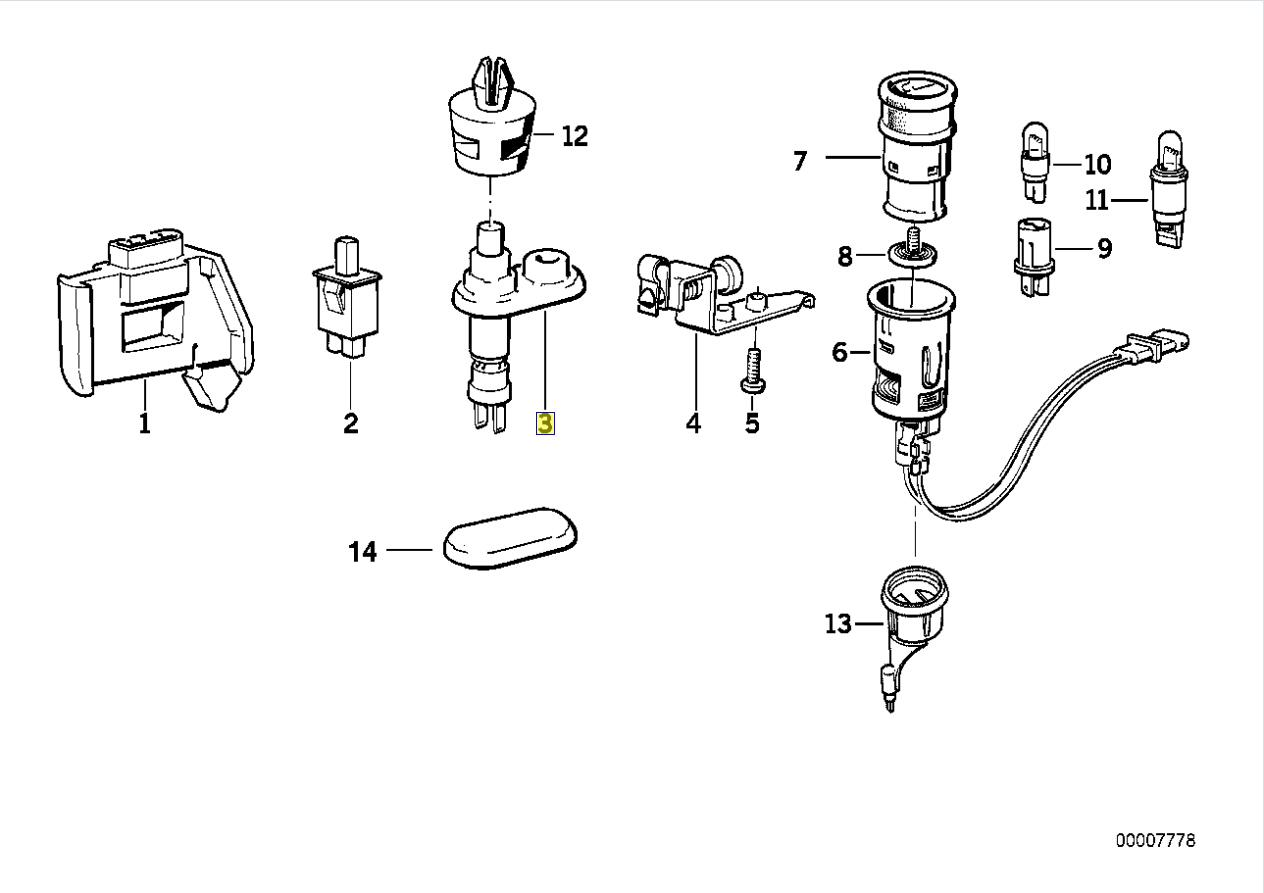 Bmw E30 E12 E28 E24 E23 E32 E31 Interrupteur De Porte