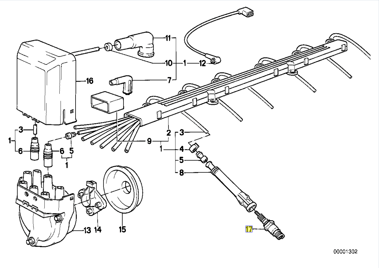 Bmw M20 M30 Engine Bosch W8 Lcr Spark Plug