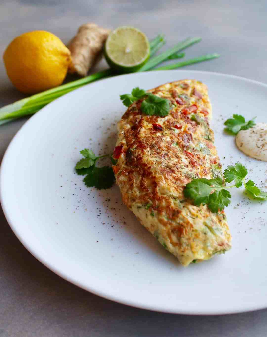 spiced thai omelette