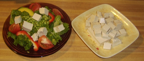 Salad and Tofu