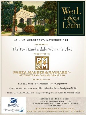 Press Release Lunch and Learn Nov 12, 2014