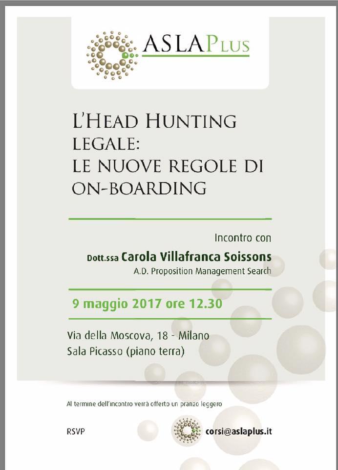 Head Hunting legale – Incontro con Carola Villafranca Soissons per Asla Plus