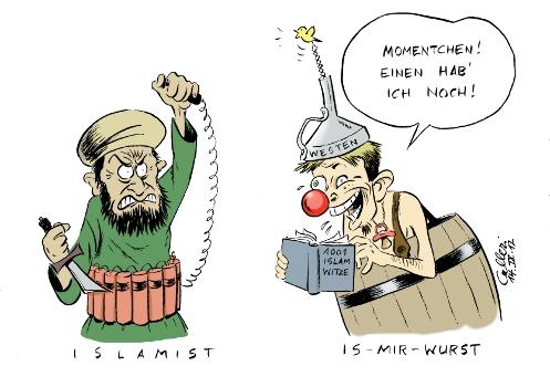Bildergebnis für islam karikatur
