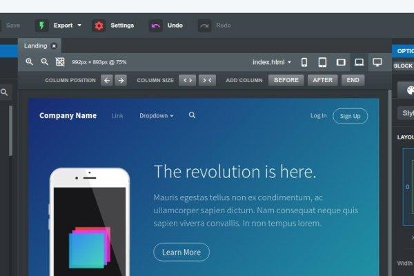 Bootstrap Studio strumenti per web designer