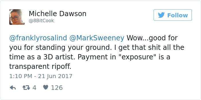 Non ti pago ma puoi mostrare un progetto