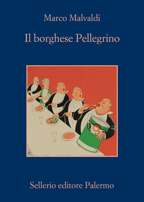 Malvaldi e Amalia Gré a Castelbasso, nella foto la copertina del libro IL borghese Pellegrino