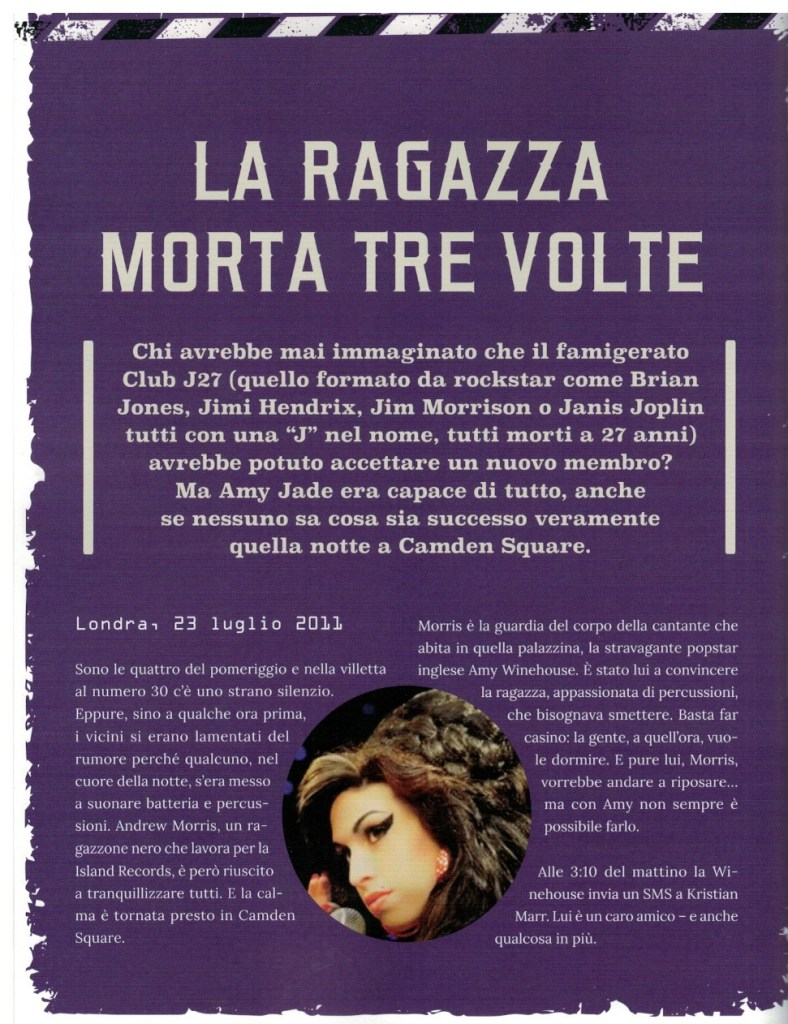 Amore morte e rock'n'roll. La storia di Amy Winehouse