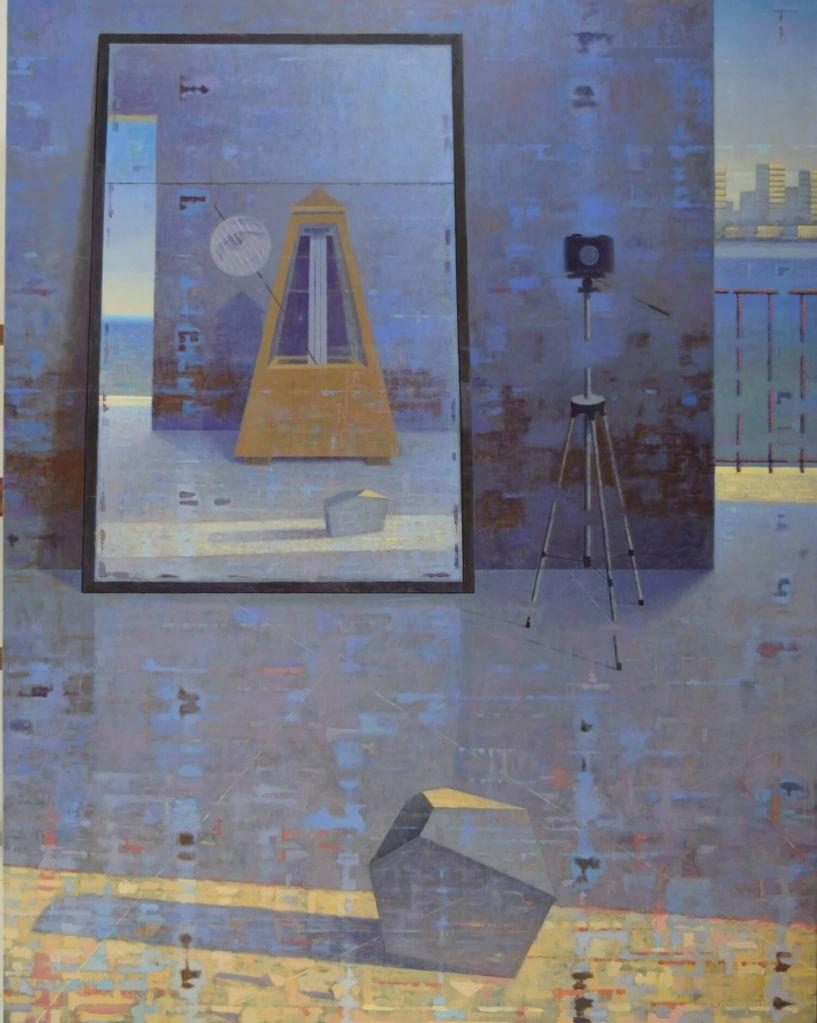 Giuseppe Modica al museo Andersen. Atelier con Durer Man Ray-2015olio tela