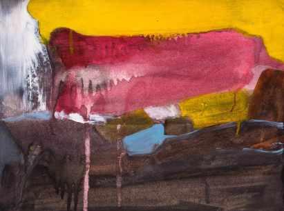 dipinto astratto su carta