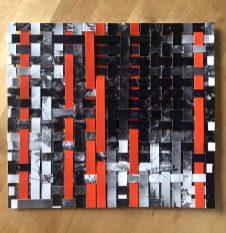 Collage di carta fotografica in bianco e nero