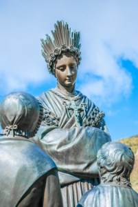 16907312 - statue of st  mary, holy mother in la salette, france