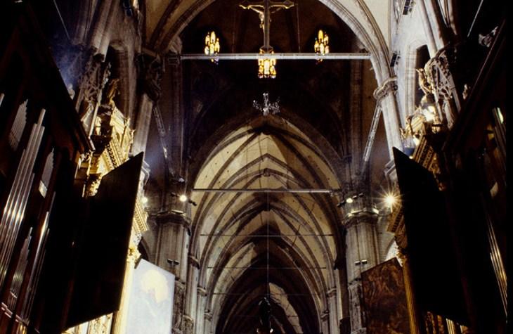 I quadroni della navata centrale