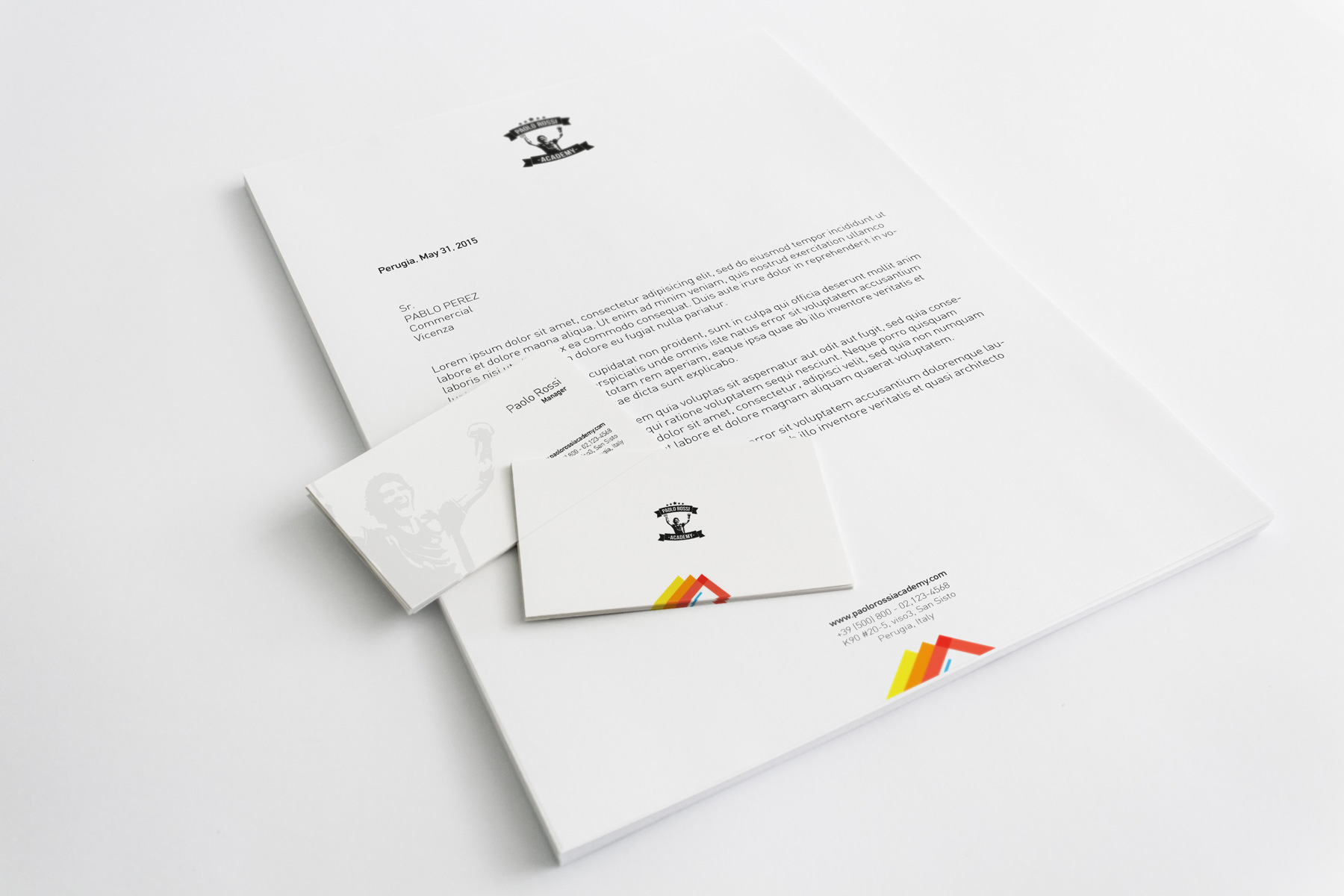 A4 Letterhead Business Cards