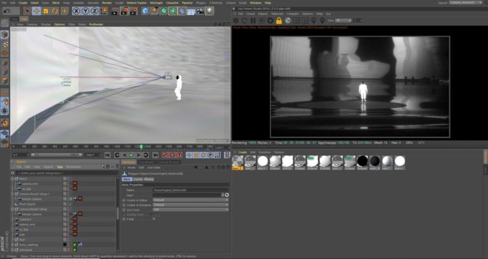 """Miscelazione di animazioni C4D, Charcoal e Cel per """"Last I Heard"""" di Thom Yorke - C4D Astronaut"""