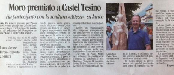 Paolo Moro premiato a Castel Tesino