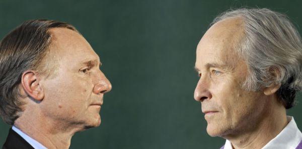 Dan Brown contro Richard Ford (fotomontaggio di Fabiano Albani).