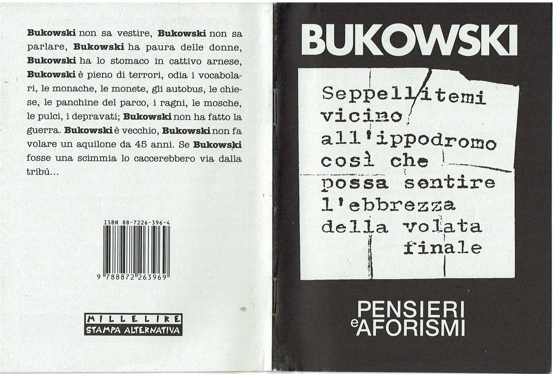 Un Bukowski d'antan carico di aforismi, gratis