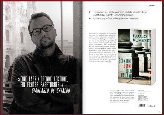 La presentazione del romanzo sul catalogo Ullstein