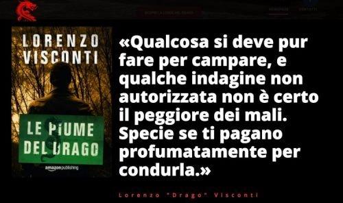 Il ritorno di Lorenzo Visconti: Le piume del Drago #dragon